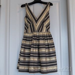 J. Crew Gray and Gold Cocktail Party Dress Size 0